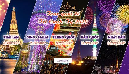 Tour du lịch quốc tế tết canh tý 2020